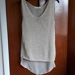 Zara knit sleeveless top with sheer back size M